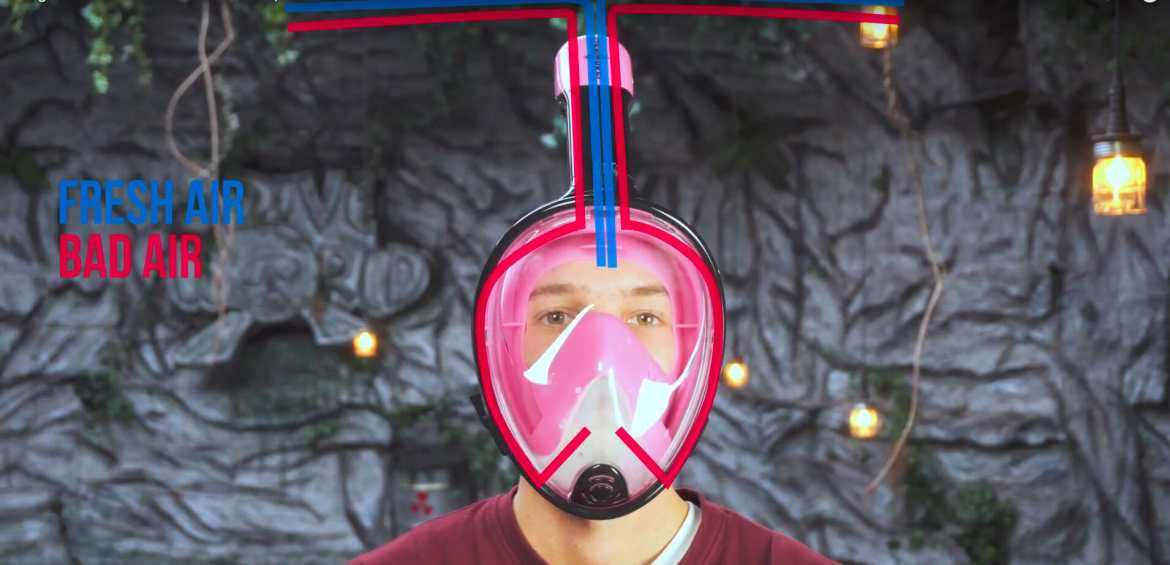 Dangerous Full Face Snorkel Masks