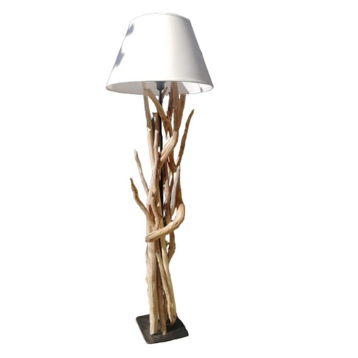 lampadaire moly en bois flotte