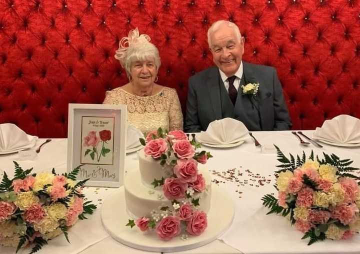 Wedding celebrations for a couple who found love at their retirement development