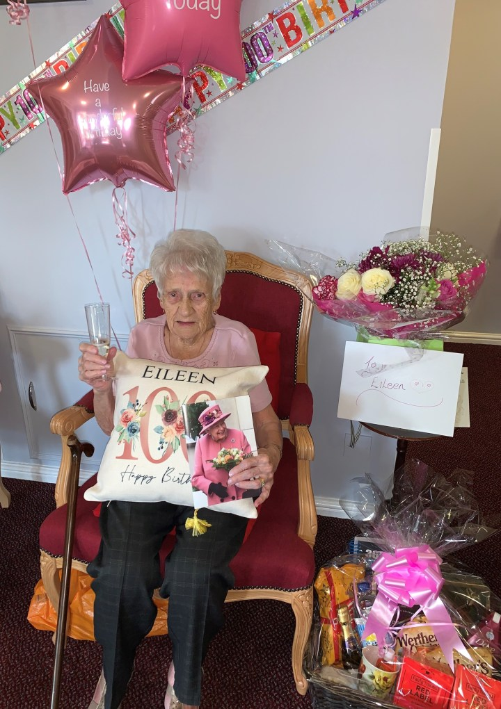 Retirement Homesearch wishes 'real diamond' resident, Eileen, a happy 100th Birthday