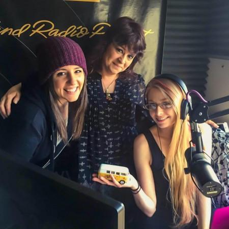 Sarah, Kelly, and I at Portland Radio Project.