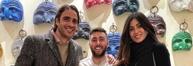 Alessandro Matri e Federica Nargi con Ciro Oliva