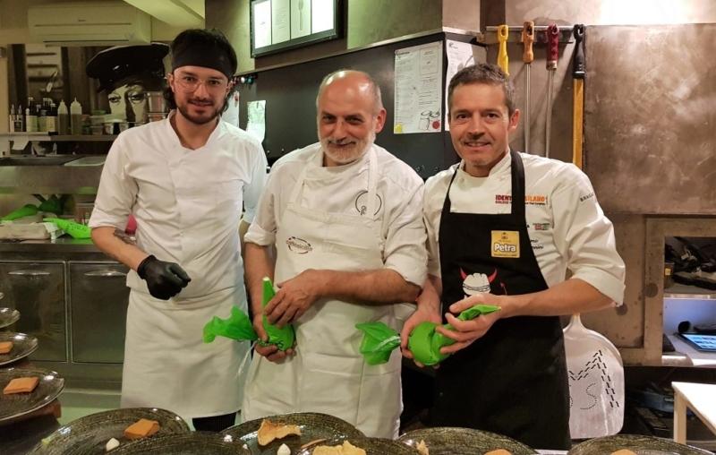"""Corrado Assenza e Massimo Giovannini in occasione di """"Oltre la Pizza"""""""