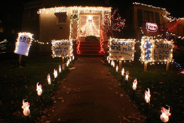 Christmas Tree Lane in Alameda