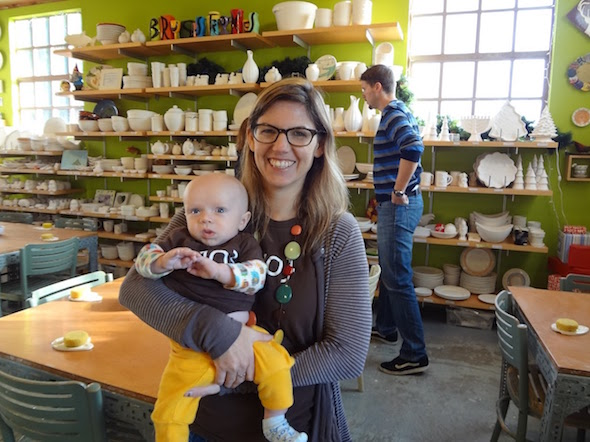 Baby's Day Out with Brushstrokes and Plum