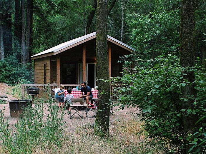Samuel Taylor Park Cabin Camping