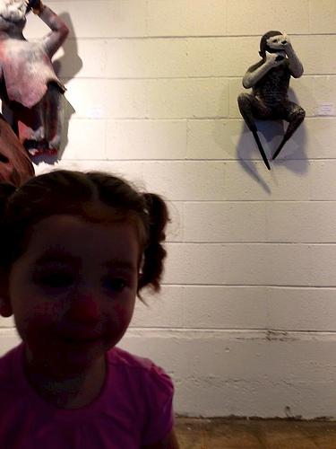 kid with monkey art