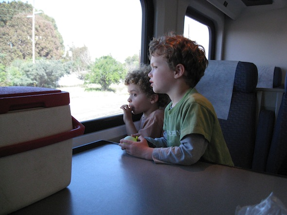 Ride a real train from Emeryville to Martinez with your preschooler