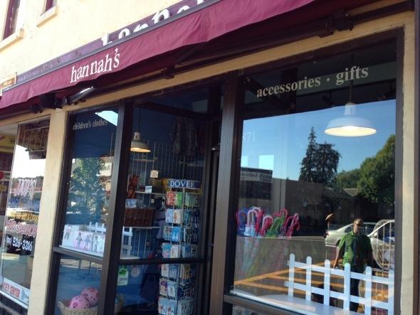 Hannah's children's resale shop in Berkeley