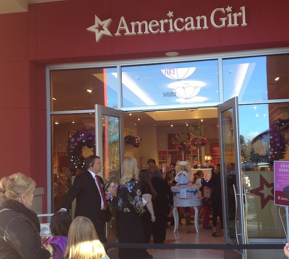 The American Girl Store in Palo Alto