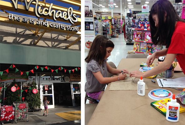 Drop in crafts at Michaels