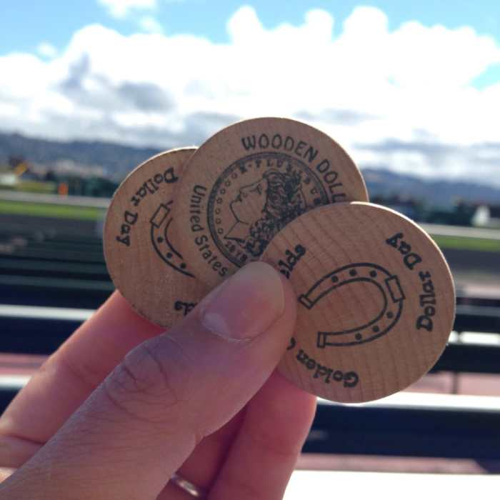 Dollar Day tokens at Golden Gate Fields Racetrack