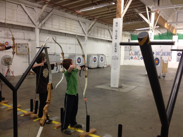 Fat Shafts Archery in Benicia, fun for girls or boys older than 8