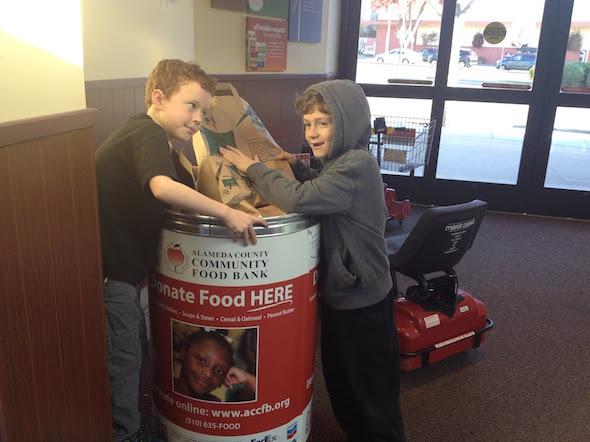 Teaching kids to be charitable