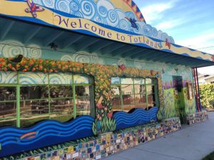 Totland clubhouse features a lovely mural and classes