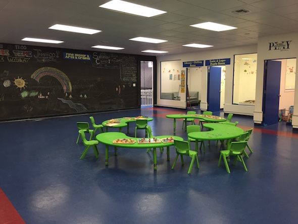 Kids Gym Berkeley craft and puzzle tables