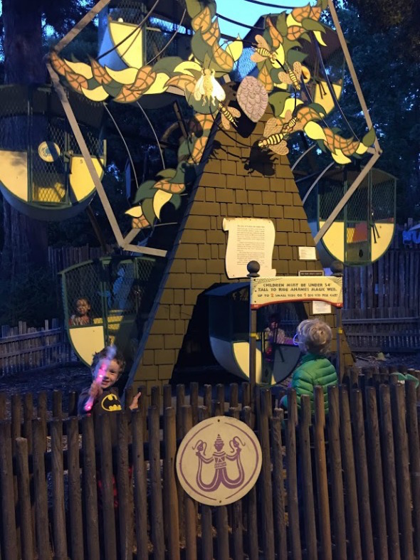 Ferris wheel rides at Fairyland Summer Sleepover in Oakland