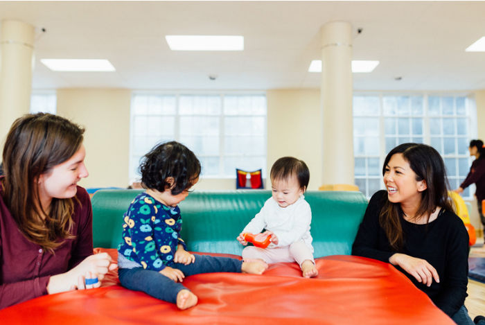 Moms and babies at Kindergym Oakland