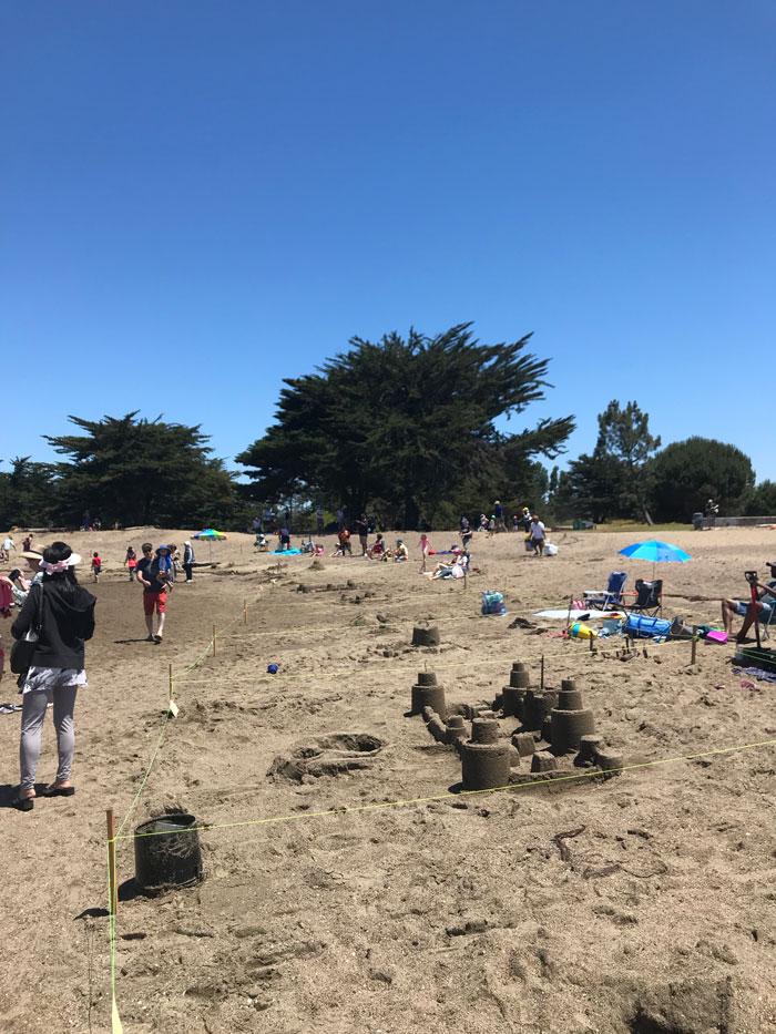 Sandcastle contest in Alameda