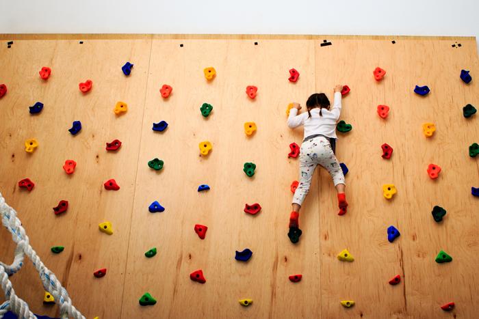 Kids Gym Berkeley climbing wall
