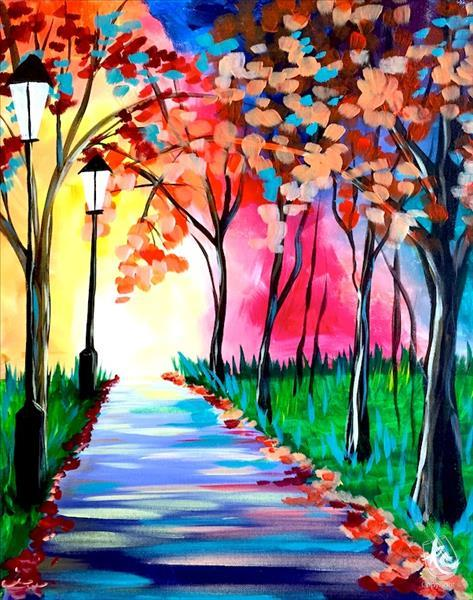 morning walk painting with twist