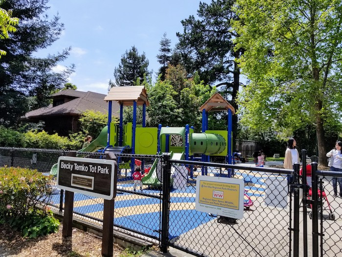 Becky Temko Tot Park offers space to play and picnic.