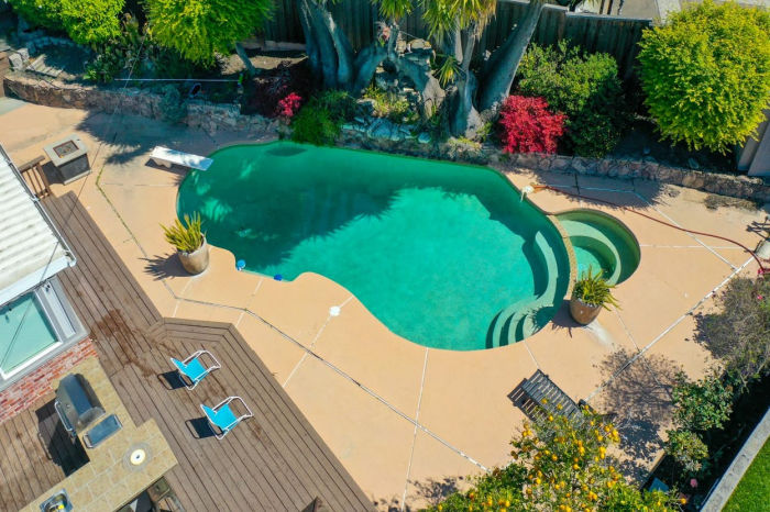 backyard swimming pool in richmond