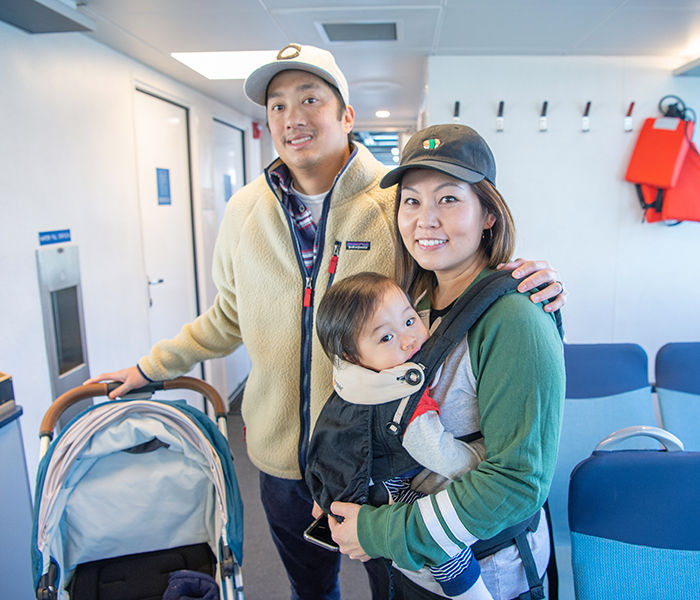 Young family rides SF Ferry