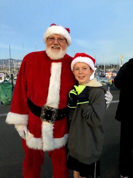 Santa Claus at Berkeley Winter Wonderland at marina