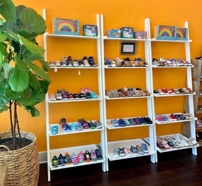 Shoe selection at goldenbug shoes oakland