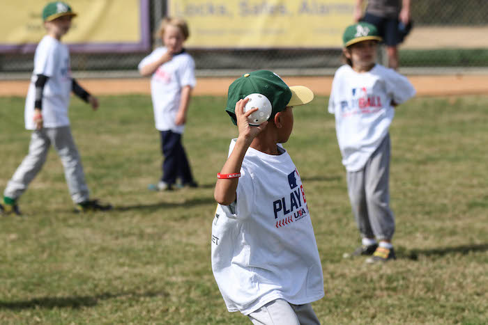 Oakland A's Play Ball events are baseball skills clinics in the community