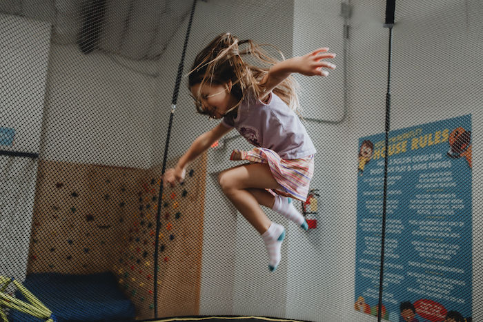 girl jumps
