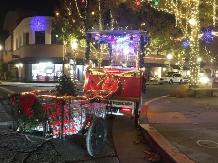 christmas pedicab in berkeley