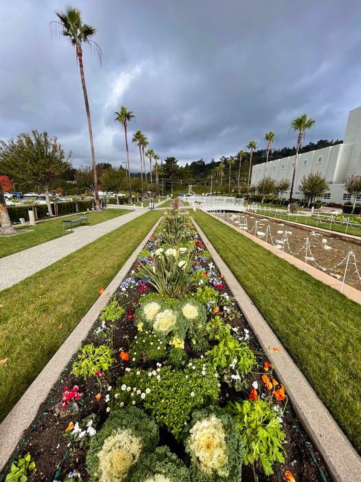 The impeccable Oakland California LDS Temple Gardens | Photo: Julia Gidwani