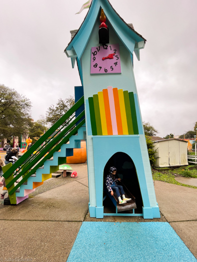 We called this the rainbow slide. | Photo: Julia Gidwani