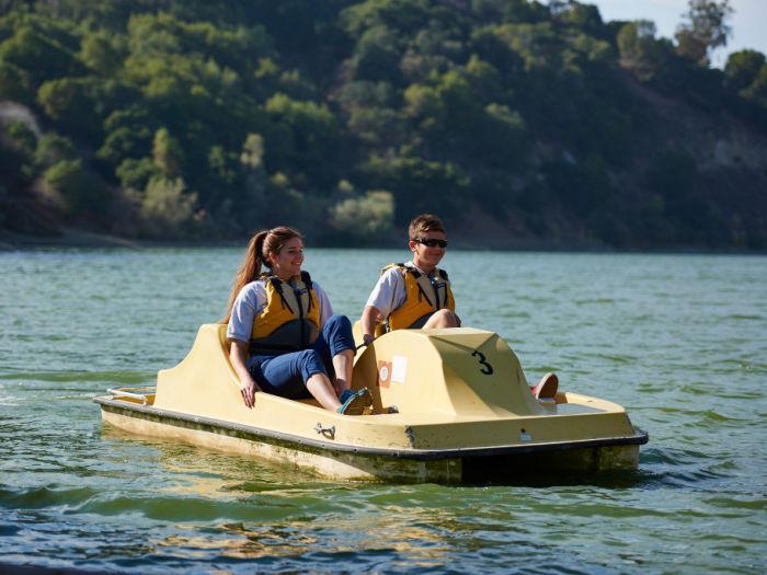 pedal boat on Lake Chabot