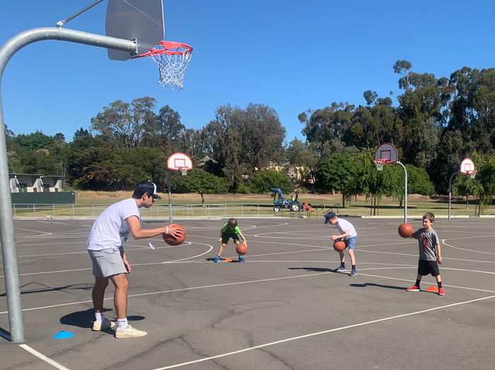 kids at basketball camp