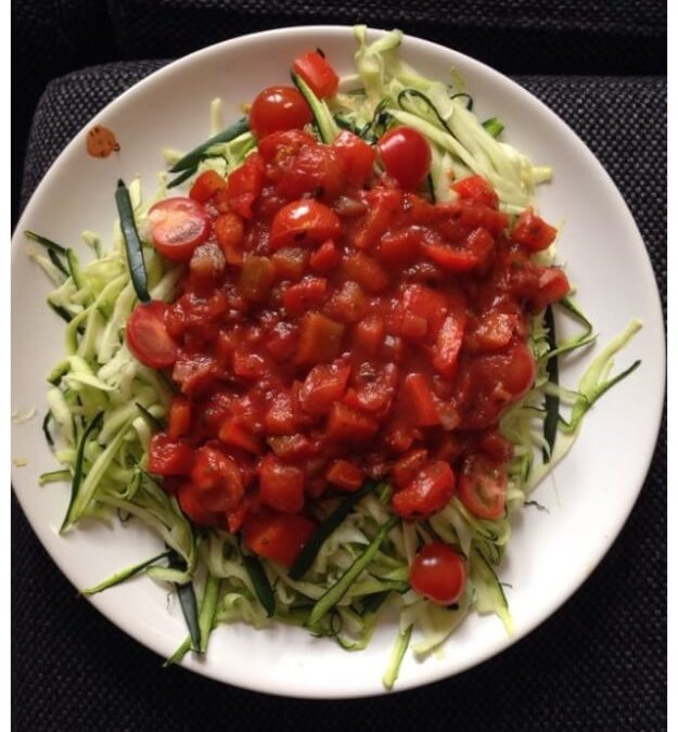 Caloriearme Courgette Pasta Met Tomatensaus