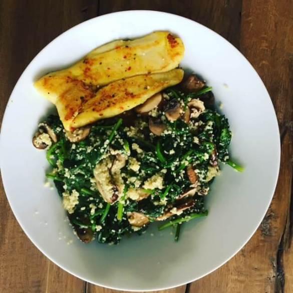 spinazie couscous