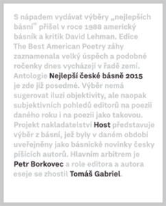 Borkovec & Gabriel: Nejlepší české básně 2015 (obálka knihy)
