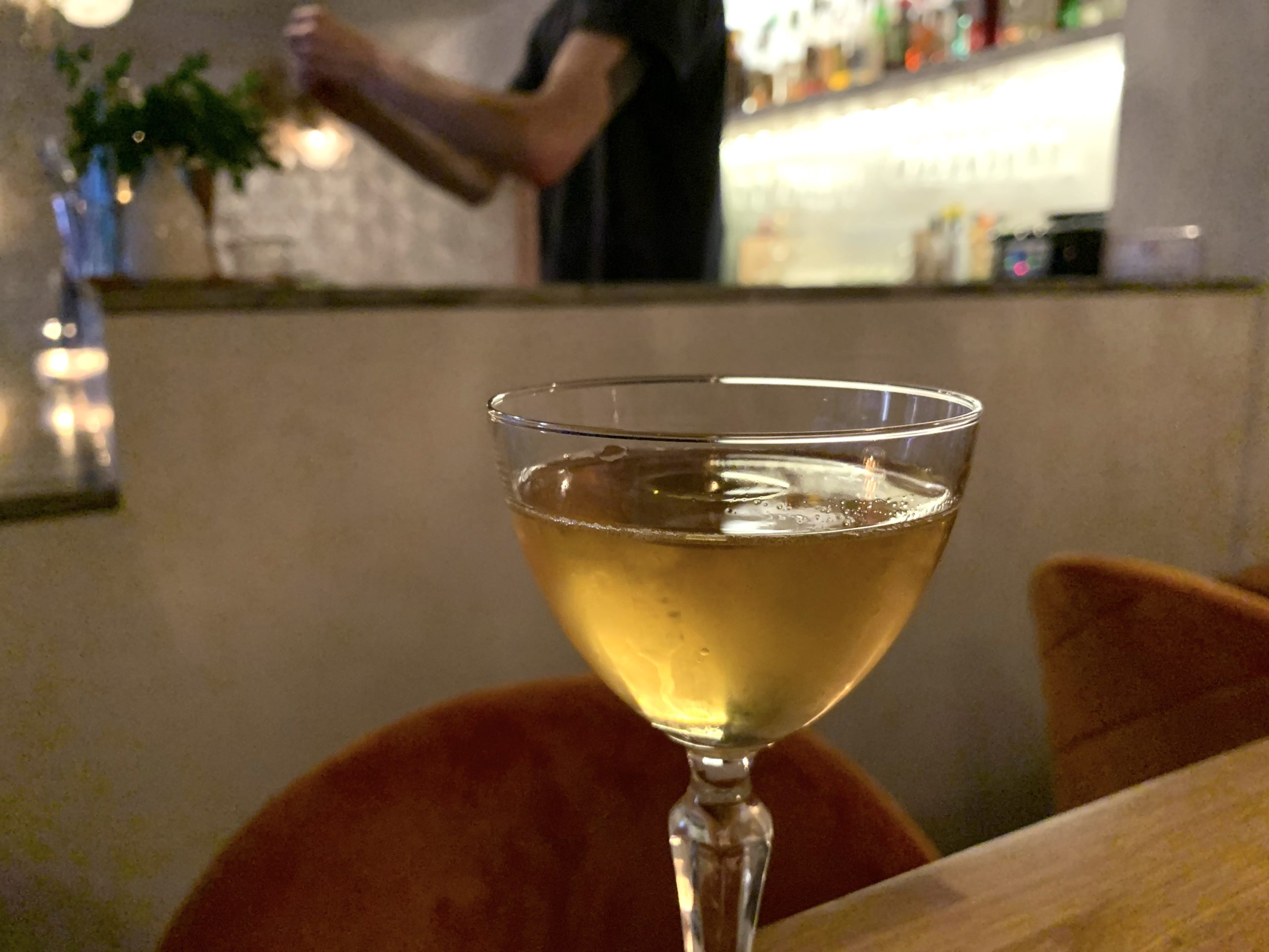 Dirty Lemon Bar Manhattan cocktail