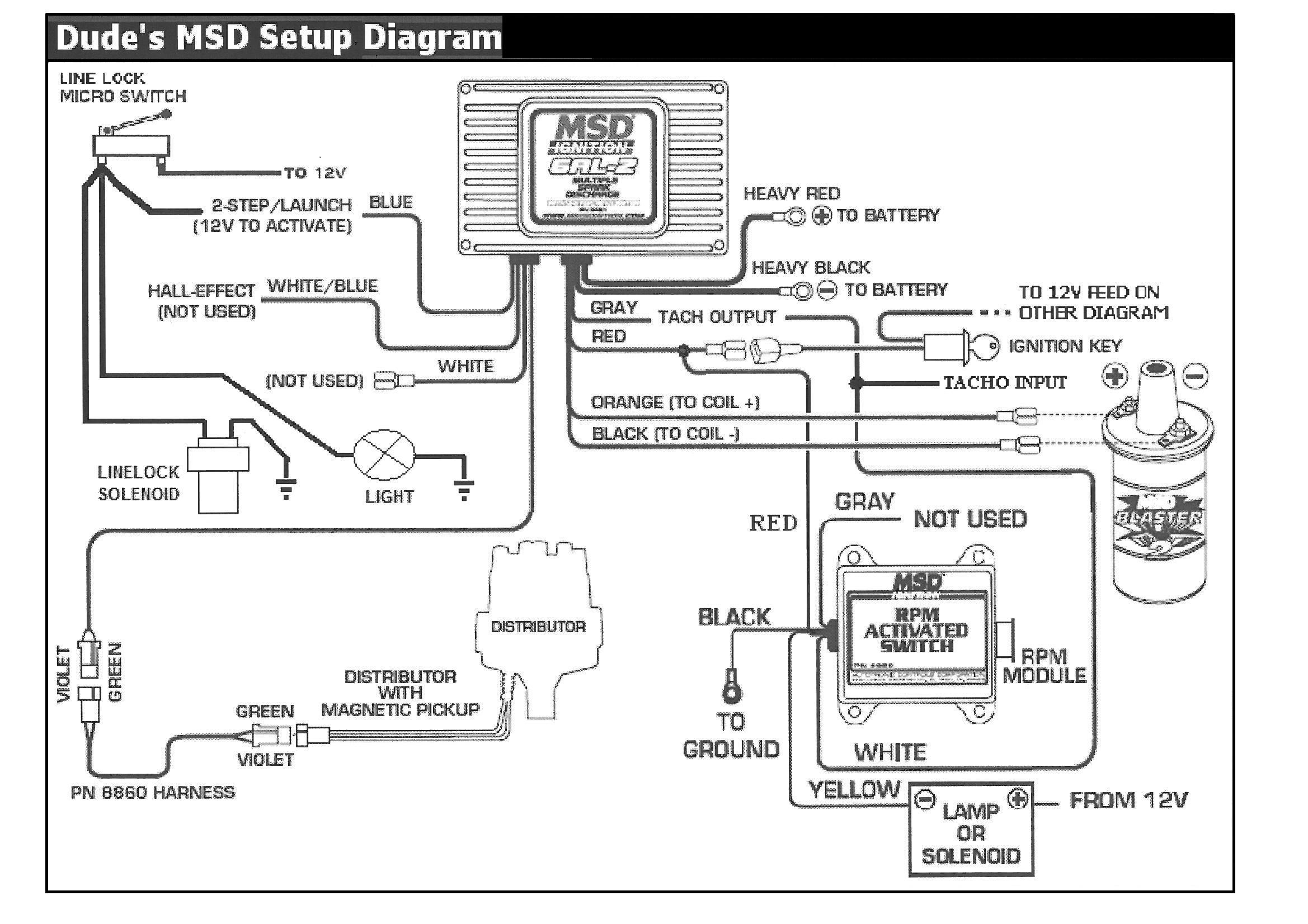 Auto Meter Tach To Msd 6al Box Wiring. Wiring Diagrams ...