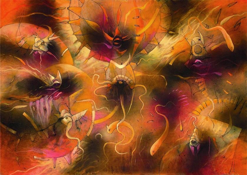 UNDERWATER DREAMS oil on canvas cm150xcm100