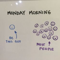 Be different on Monday