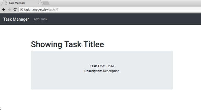 Tutorial simple crud operations in laravel 55 5 balloons since we have linked our task title in index page to the show page you should be able to see this page on clicking on the title malvernweather Image collections