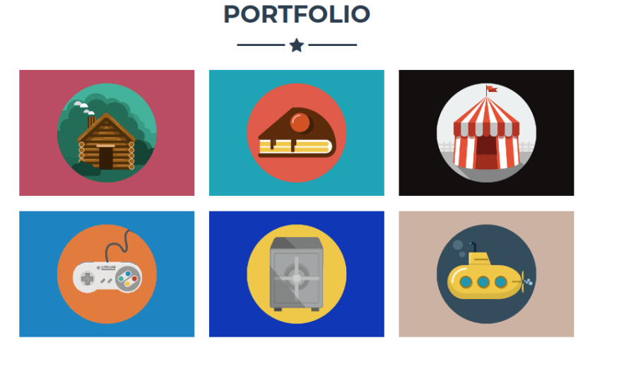 portfolio section static bootstrap