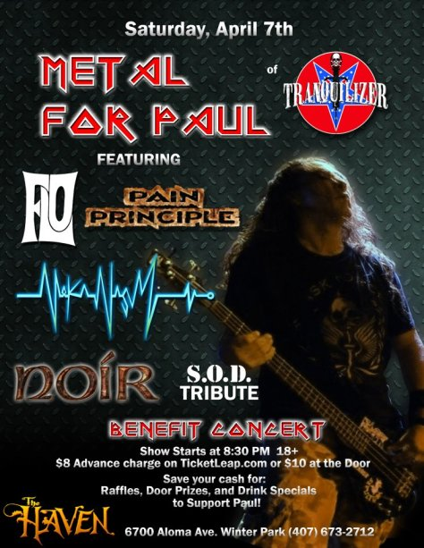 metal for paul kyle benefit with pain principle noir at the haven lounge winter park