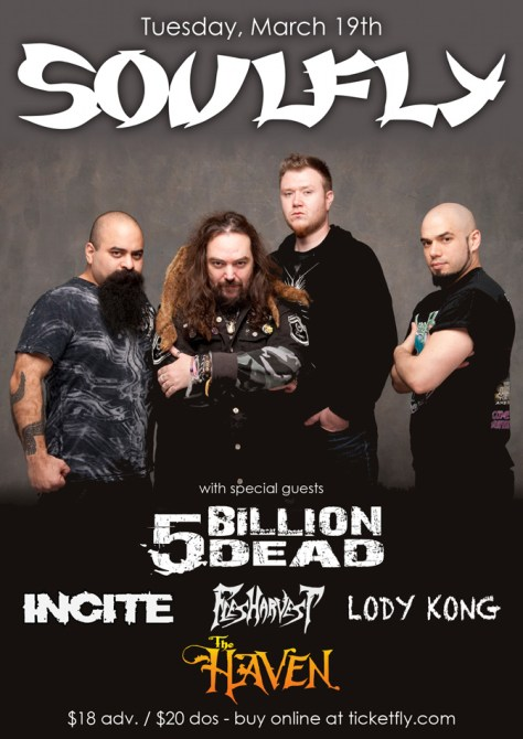 link to buy tickets to soulfly and 5 billion dead