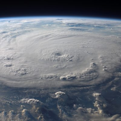 Picture of earth from space of hurricane