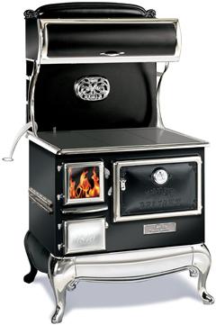 black elmira fireview wood cookstove